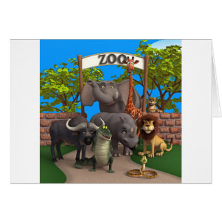 Animals at the Zoo Card