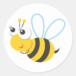 Animals - Bee Classic Round Sticker