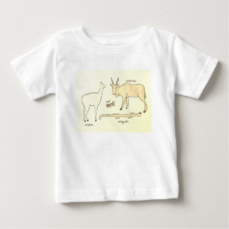 Animals beginning with the letter A Baby T-Shirt