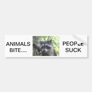 Animals Bite People Suck Bumper Sticker