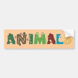 Animals Bumpersticker Bumper Sticker