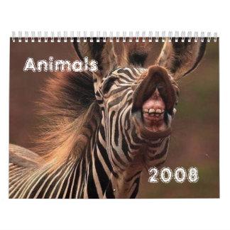 Animals Calander for 2008 Calendars