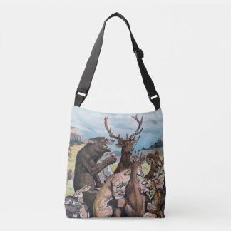 Animals Celebrate With A Feast - J. S. Pughe Crossbody Bag