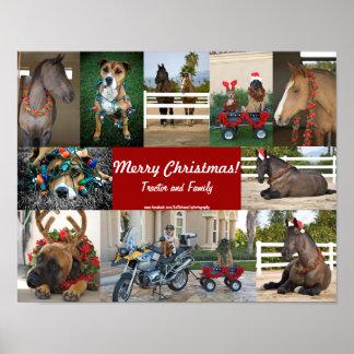 Animals christmas poster