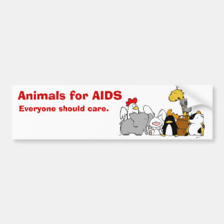 Animals for AIDS Bumper Sticker