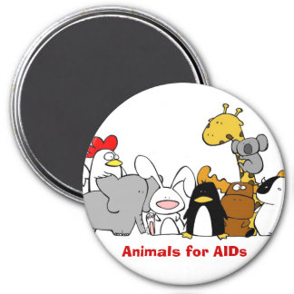 Animals for AIDS Magnet