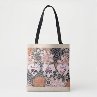 Animals have hearts tote bag