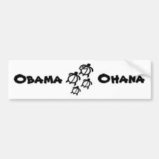 Animals_Honu_Ohana_Small, Obama, Ohana Bumper Sticker