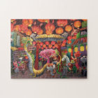 Animals in China Town Jigsaw Puzzle