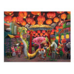 Animals in China Town Postcard