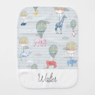 Animals in Hot Air Balloons Cloth