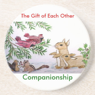 animals in snow, The Gift of Each Other, Compan... Coaster