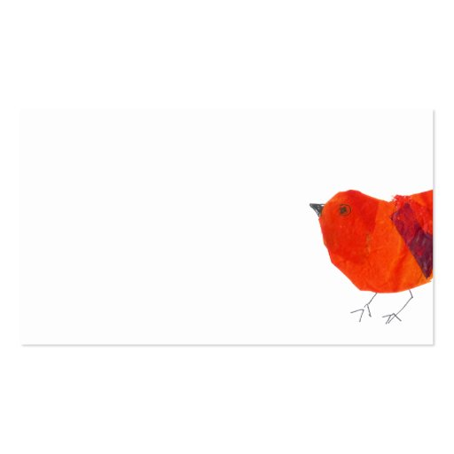 Animals Lovely Red Little Bird Business Cards