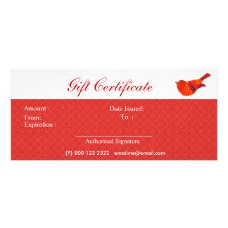 Animals Lovely Red Little Bird Rack Card