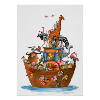 Animals Noah's Ark - Poster