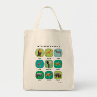 Animals of Africa Grocery Tote Bag