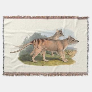 Animals Of Australia The Tasmanian Tiger Throw Blanket