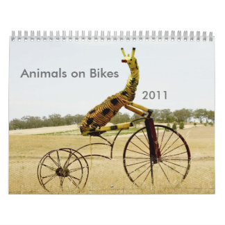 Animals on Bikes 2011 Ezy Rider Wall Calendars
