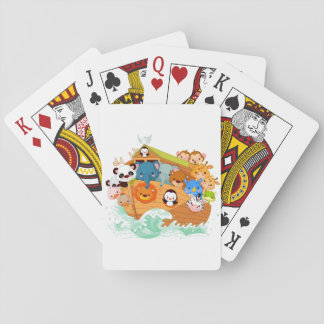 Animals On Noahs Art Playing Cards