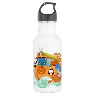 Animals On Noahs Art Water Bottle