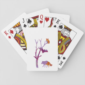Animals Playing Cards