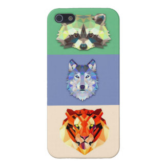 Animals raccoon wolf tiger iPhone 5/5S cover