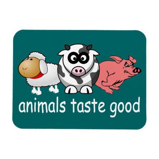Animals Taste Good - Changeable Background Color Vinyl Magnet