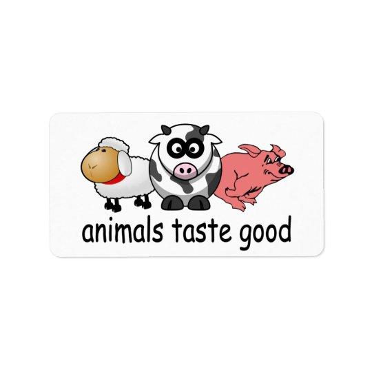 Animals Taste Good - Funny Meat Eaters Design