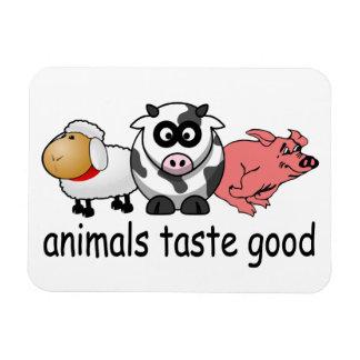 Animals Taste Good Rectangular Photo Magnet