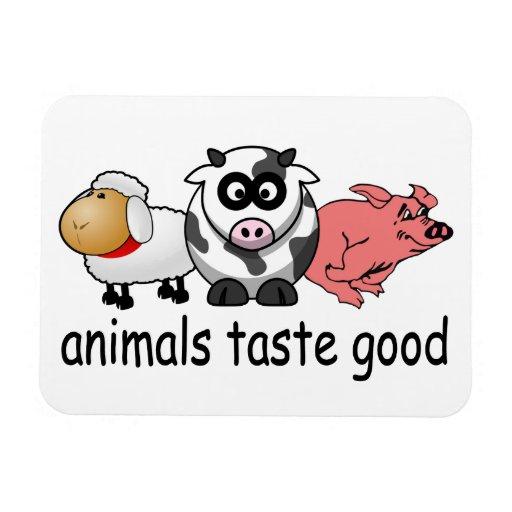 Animals Taste Good Rectangular Magnets