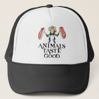 Animals Taste Good Trucker Hat