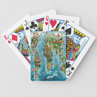 Animals World Map Bicycle Playing Cards