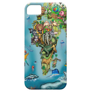Animals World Map iPhone 5 Case