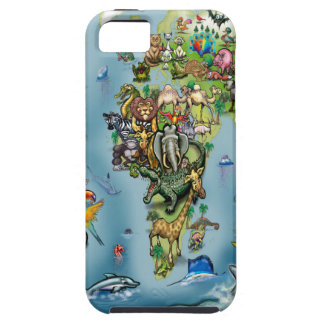 Animals World Map iPhone 5 Cover