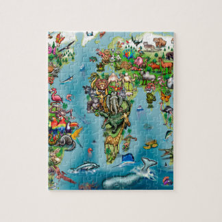 Animals World Map Puzzle