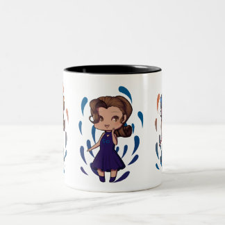 Animate Chibi Girl Two-Tone Coffee Mug