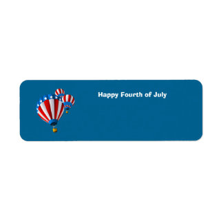 Animated American Flag July 4th Hot Air balloon