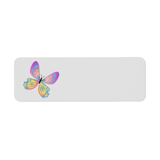 Animated Butterfly return address labe Return Address Label