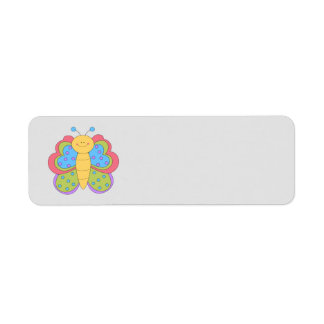 Animated Butterfly Return Address Label