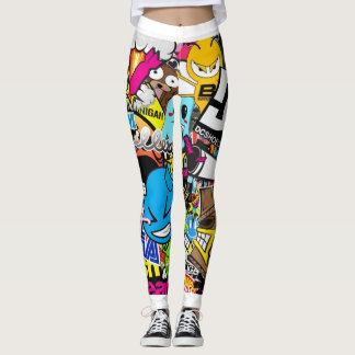 Animated Collage Leggings
