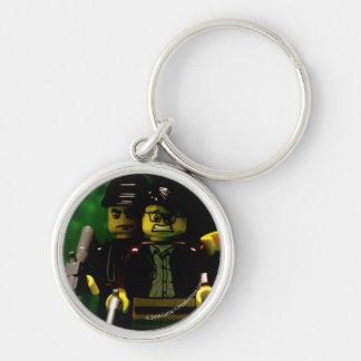 """Animated """"Creon Via London"""" Silver-Colored Round Keychain"""