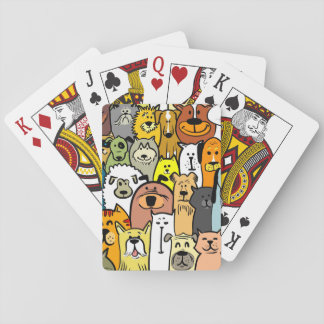 Animated Dogs and Cats illustrations Poker Deck