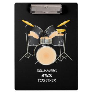 Animated drum set clipboard