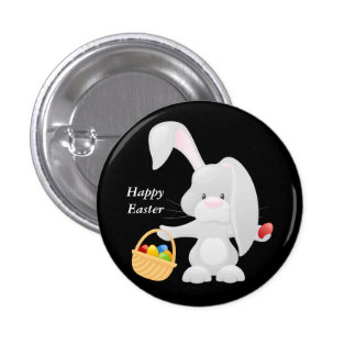Animated Easter Bunny 1 Inch Round Button