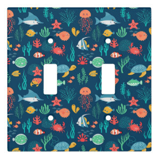 Animated Fish Patterns Light Switch Cover
