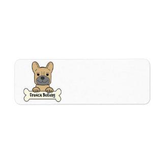 Animated French Bulldog Return Address Label