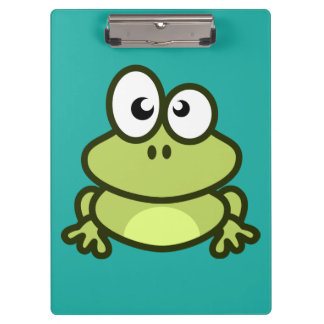 Animated Green Frog Clipboards