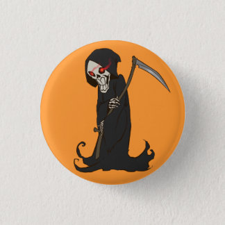 Animated Grim Reaper 1 Inch Round Button