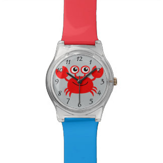 Animated happy crab watch