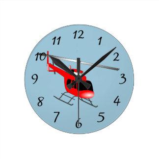 Animated Helicopter Wallclocks